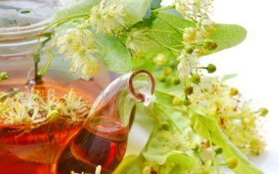 Napar z kwiatu lipy z sokiem malinowym