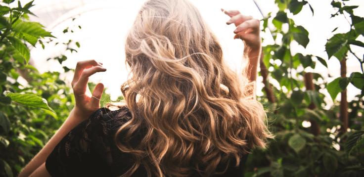 Płukankaze świeżych liści jeżyn do włosów