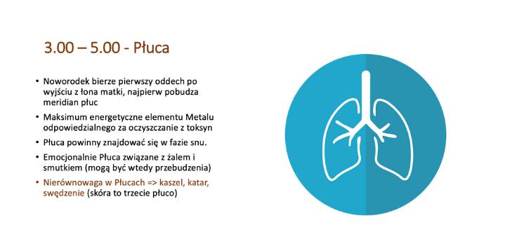 Zegar narządów - płuca